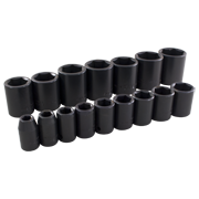 16 Pieces 6 Point Standard SAE Impact Socket