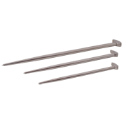 Rolling Head Pry Bar Set With Nickel Plated Finish