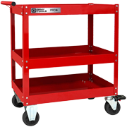 3 Tray Heavy Duty Utility Cart With Centre Shelf - PRO+ Series (Part No. 93514)