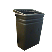 Plastic Refuse Bin For Utility Cart