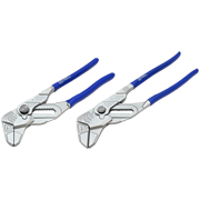 2 Piece Smooth Jaw Adjustable Pliers Set