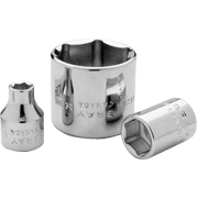 Metric Standard Chrome Sockets 6 PT