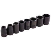 8 Pieces 6 Point Standard SAE Impact Socket Set